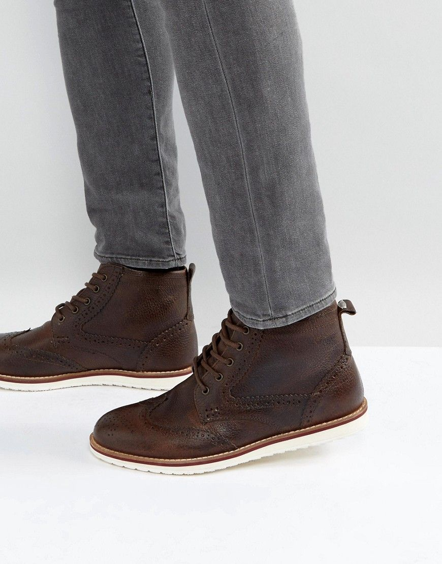 a8d489cbc5a Red Tape Brogue Boots Brown Leather | Products | Brown leather boots ...