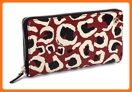 710a3120684dda Gucci Leopard Red Black Interlocking Gg Logo Leather Zip Around Wallet -  Wallets (*Amazon Partner-Link)