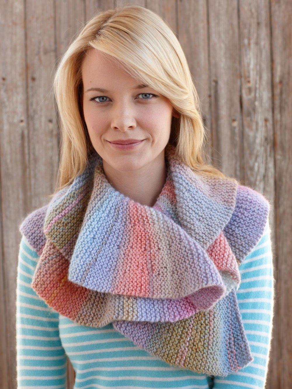 Short Row Scarf Pattern (Knit)   Knitting short rows ...