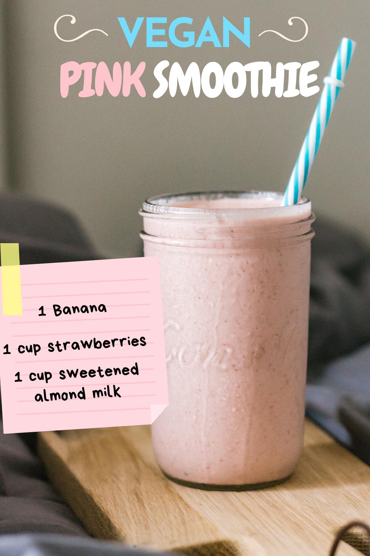 Vegan Pink Smoothie Recipe In 2020 Pink Smoothie Recipe Pink Smoothie Smoothie Recipes