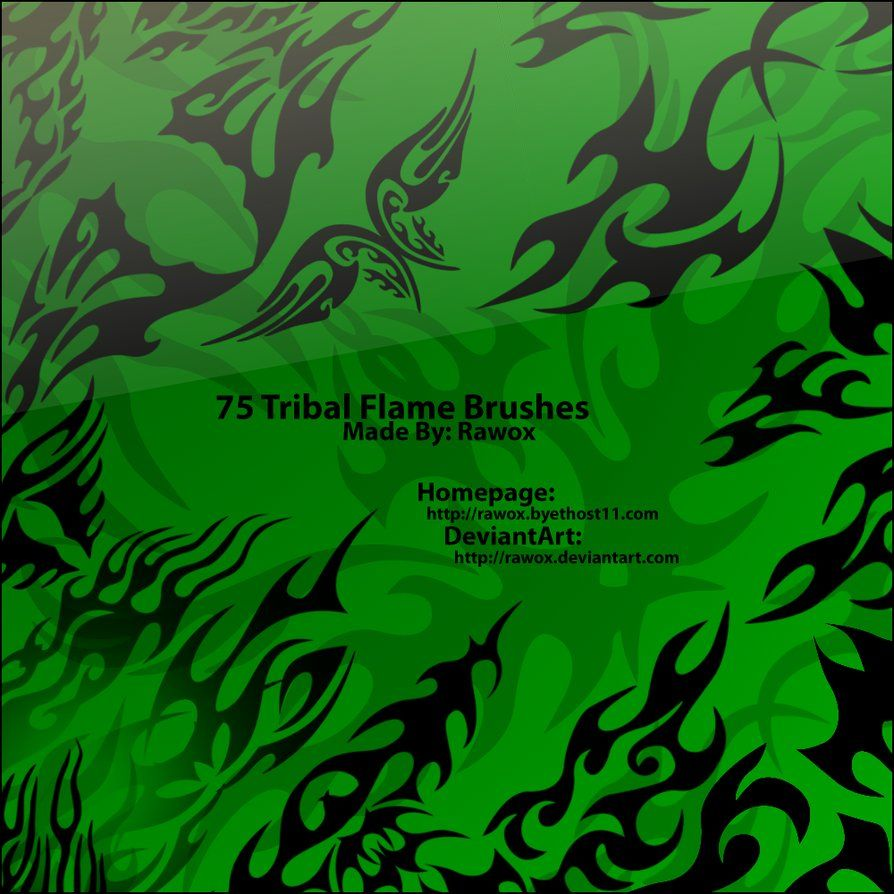 75 Tribal Flame Brushes By Rawox