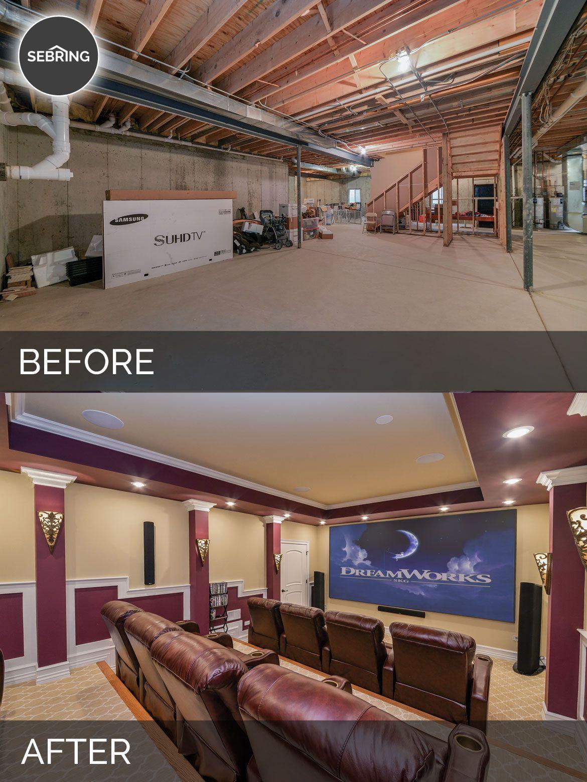 Basement Remodel Naperville Before After Sebring Design Build