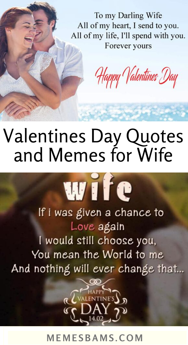 Valentines Day Quotes And Memes For Wife Valentine S Day Quotes Valentines Day Quotes For Wife Romantic Love Memes