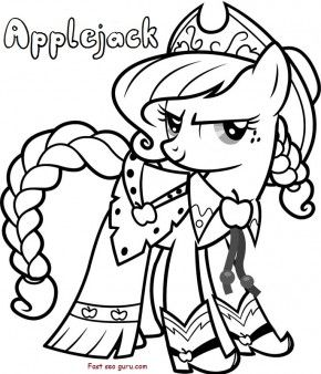 Applejack My Little Pony Friendship Is Magic Coloring In Pages Printable Coloring Pag My Little Pony Coloring Cartoon Coloring Pages My Little Pony Twilight
