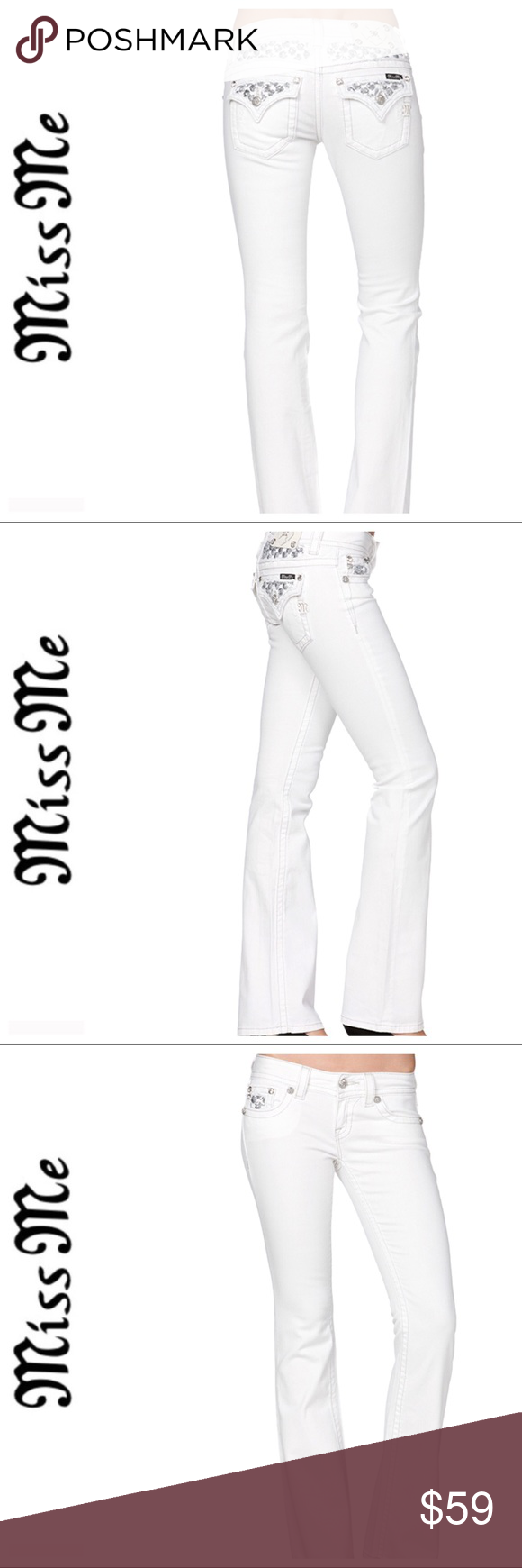 a0a42956a45 💕SALE💕Miss Me White Sequin Cluster Bootcut Denim Fabulous 💕Miss Me White Sequin  Cluster Bootcut Denim Miss Me Jeans Boot Cut