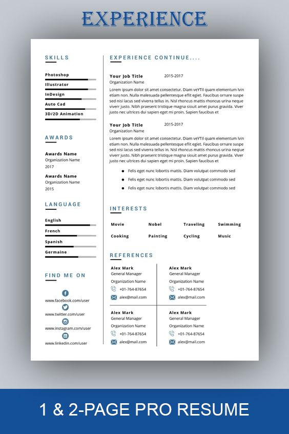 resume template professional resume template instant