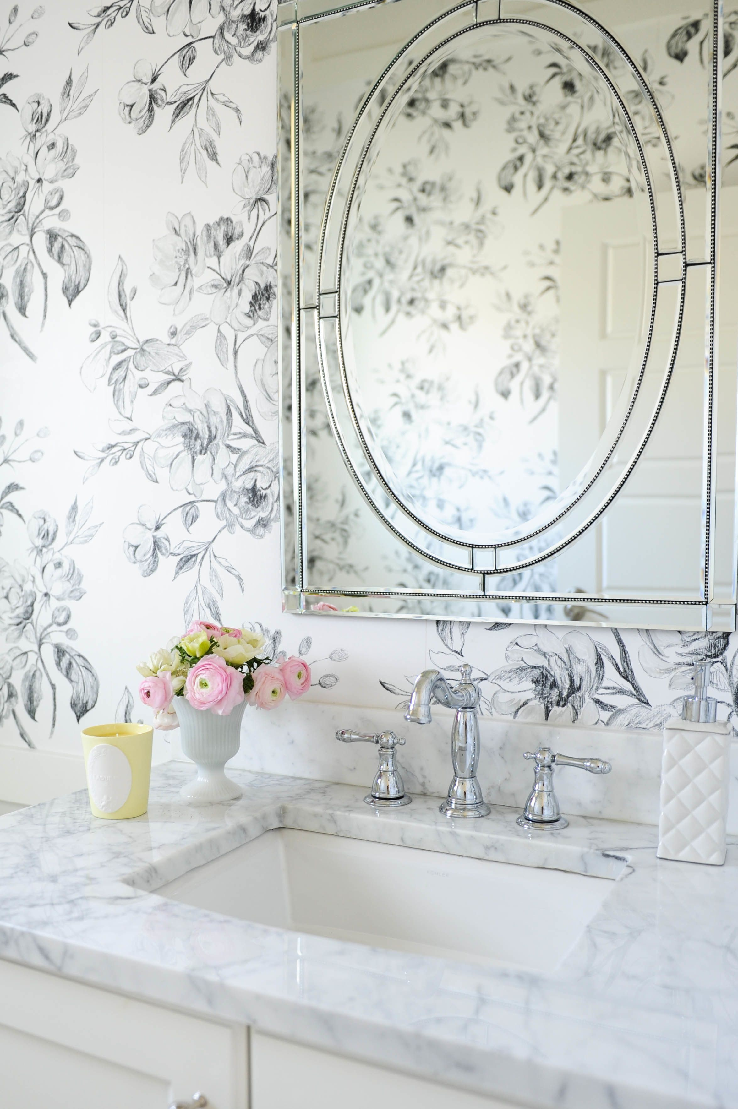 36 of the Prettiest Bathrooms of All Time | Marble wall, Countertop ...