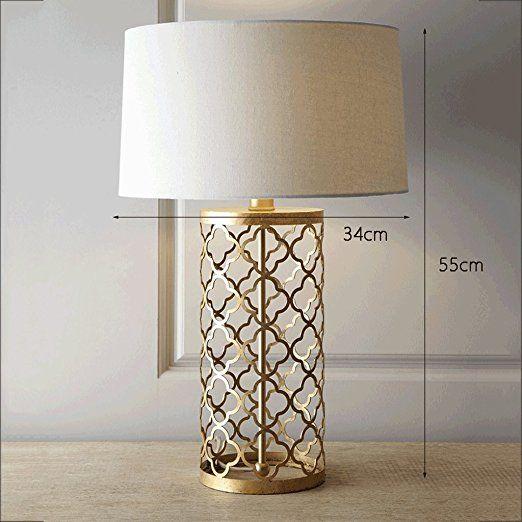 PIAOLING Amerikanische Bett Hohle Gold Lampe, Moderne Mode Hause  Schreibtisch Lampe, Schlafzimmer Zimmer Wohnzimmer