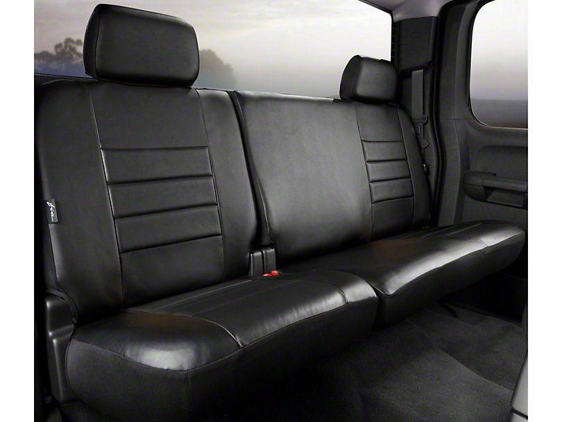 F 150 Custom Fit Leatherlite Rear 60 40 Seat Cover Black 11 14 F 150 Supercab Supercrew Seat Cover Bench Seat Covers Custom Fit Seat Covers
