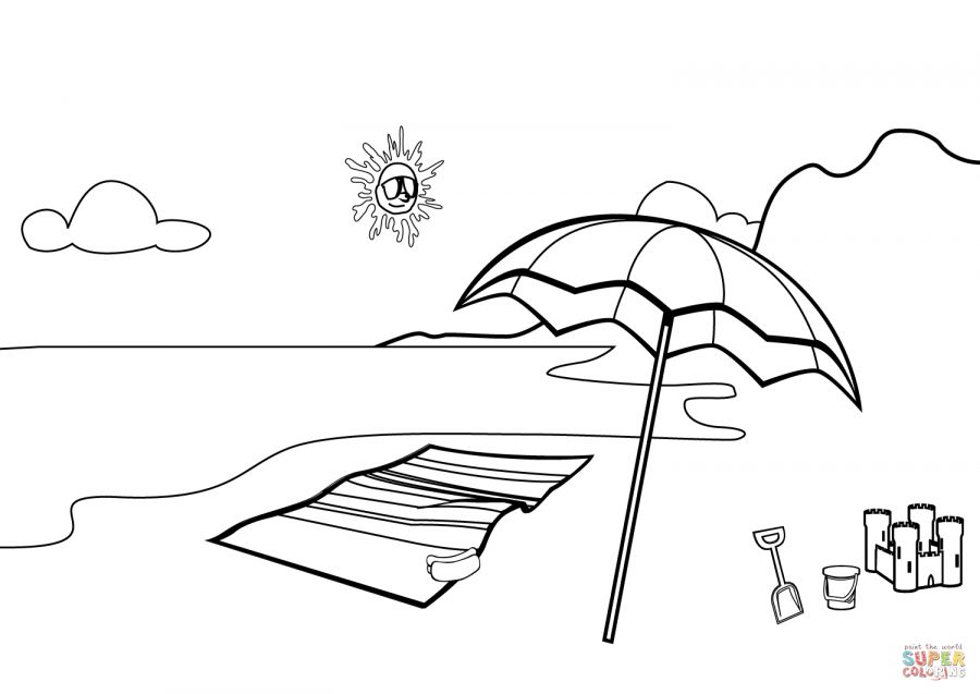 11 Beach Scene Coloring Pages Beachscenecoloringpages