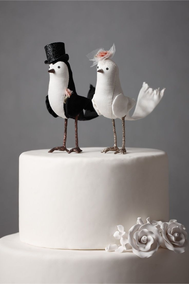 DIY and customisable Wedding Cake Toppers Bird wedding cakes