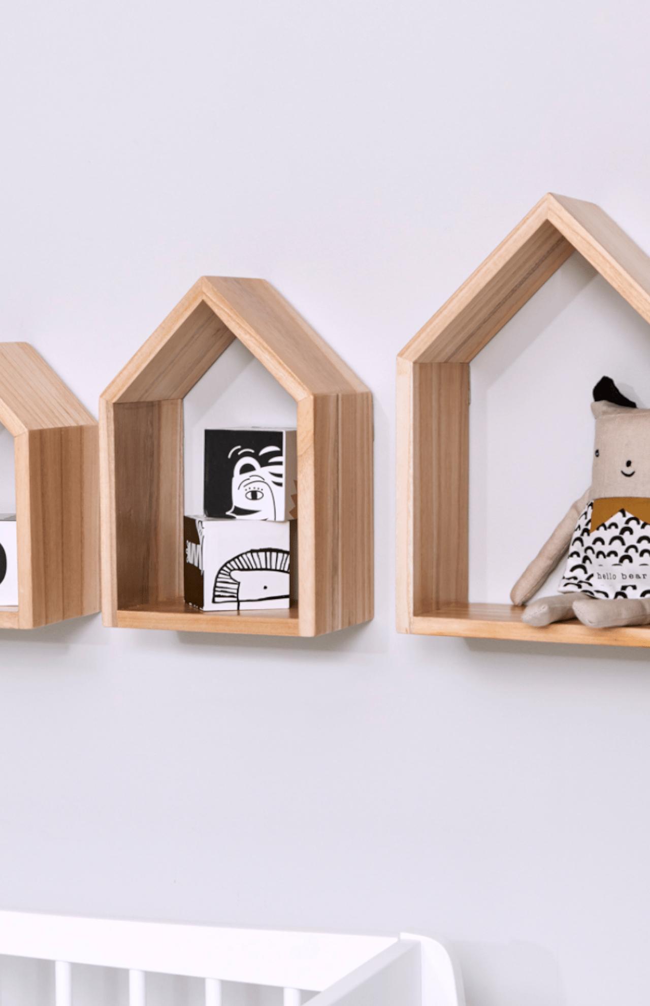 Kids Bedroom House Shaped Shelf Or Wooden House Shelf Nursery Shelf House Shelves Nursery Shelves Shelves