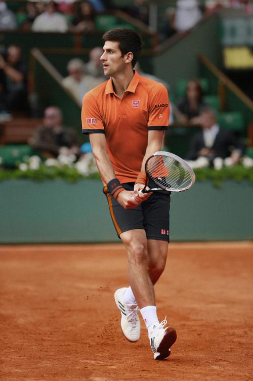 Novak Djokovic Uniqlo French Open Tennis Workout Play