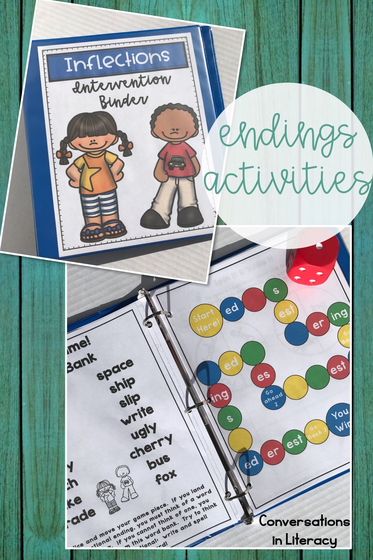 Reading Intervention Binder Inflectional Endings