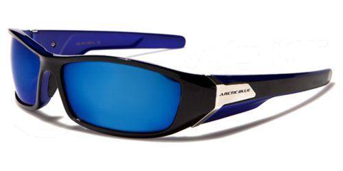 Occhiali da Sole Arctic Blue - Sport - Ciclismo - Sci - Moto - Arrampicata / Mod. Kite Bicolor Nero e Blu bgj1skD
