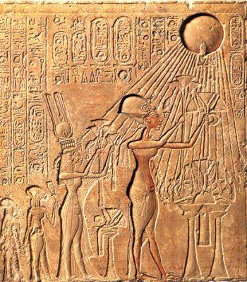 Akhenaten Worshiping Aten- beautiful !!!!