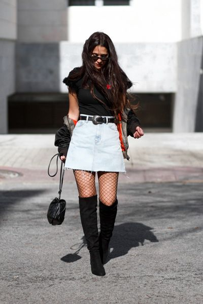 Street Trend: medias de rejilla ⋆ Moda en Calle