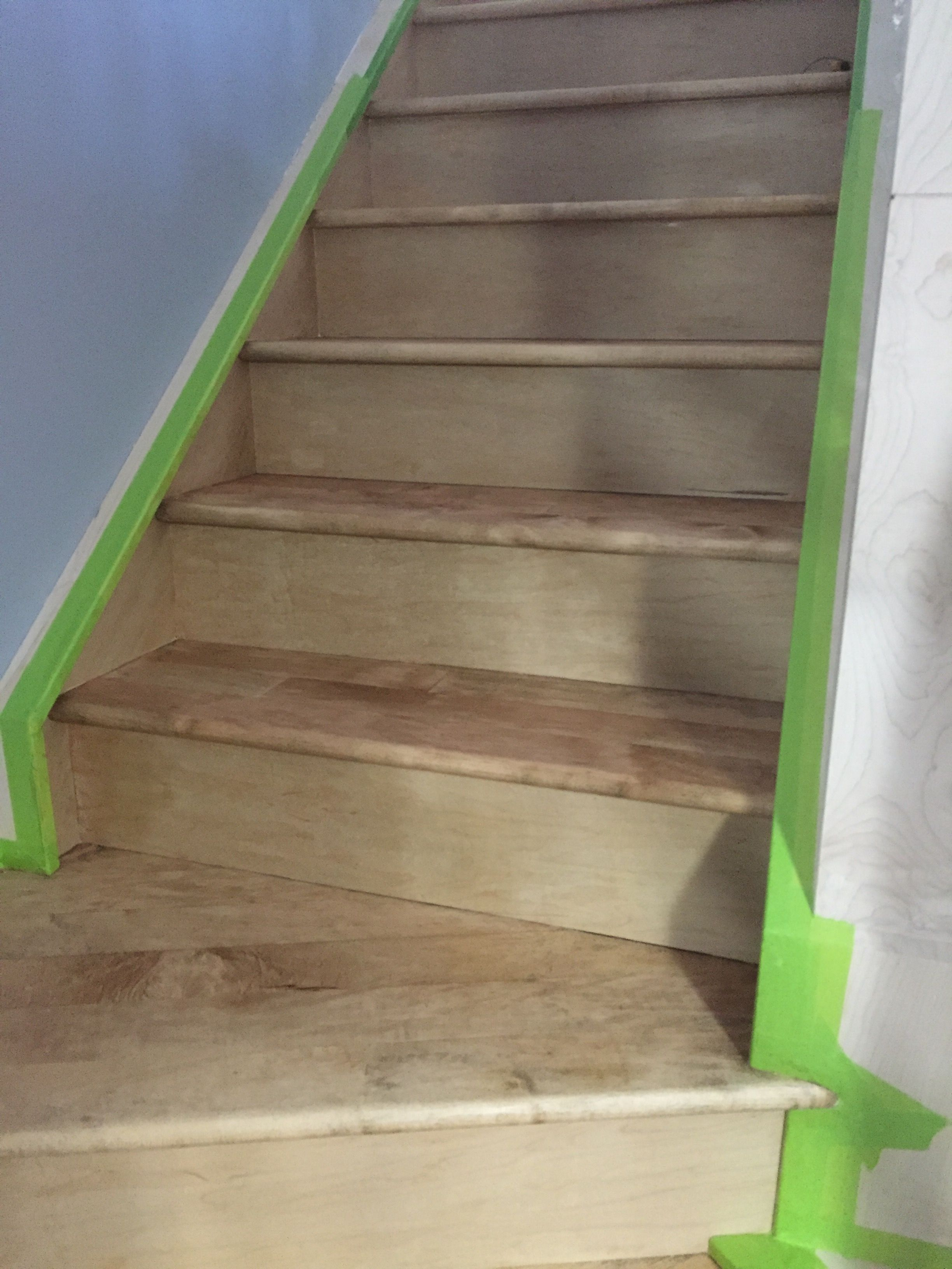 Best Maple Stairs Stained Watco Medium Brown With Images 400 x 300