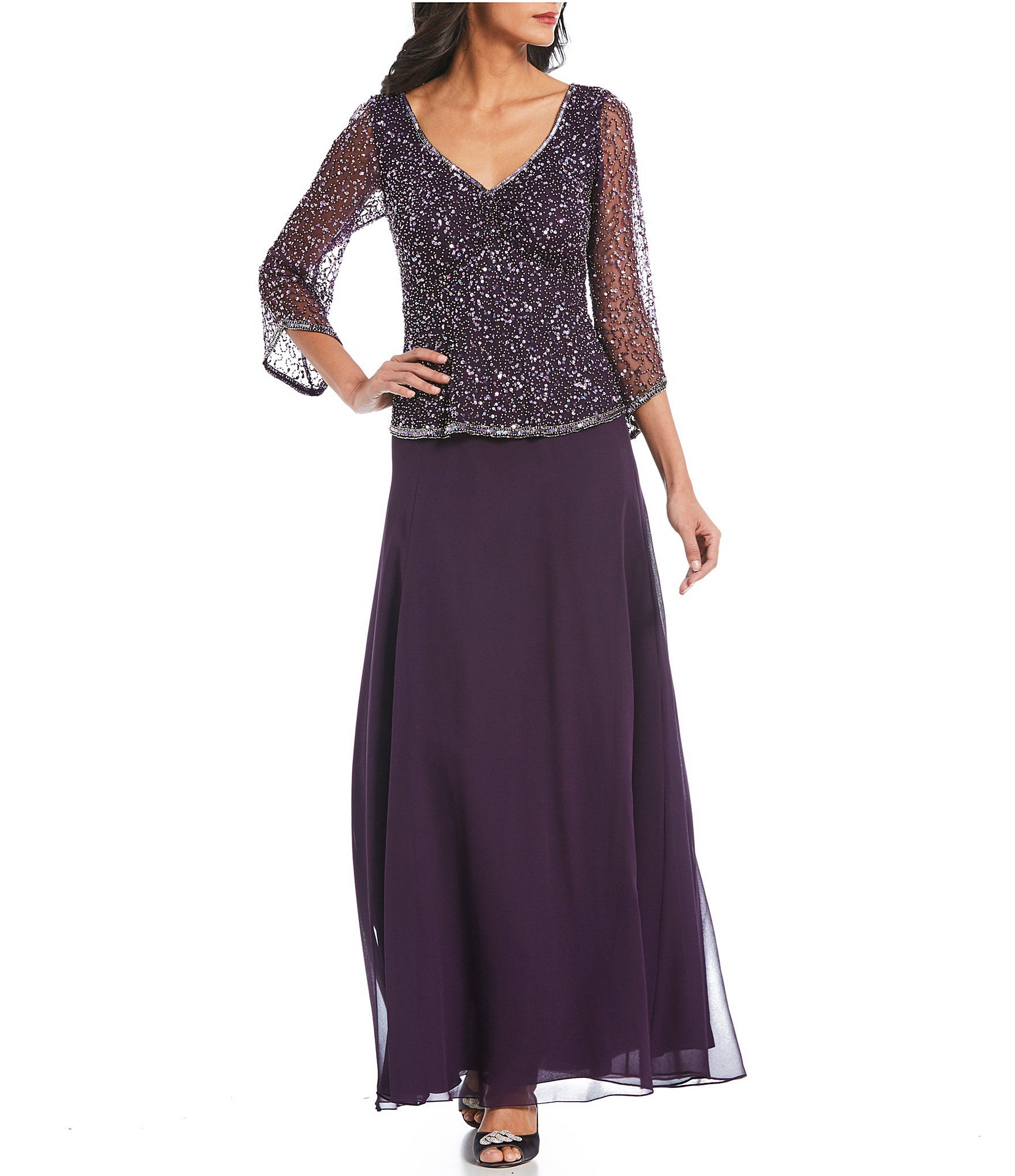 0830812bf3d Shop for Jkara V-Neck Sequin Bodice Gown at Dillards.com. Visit  Dillards.com to find clothing