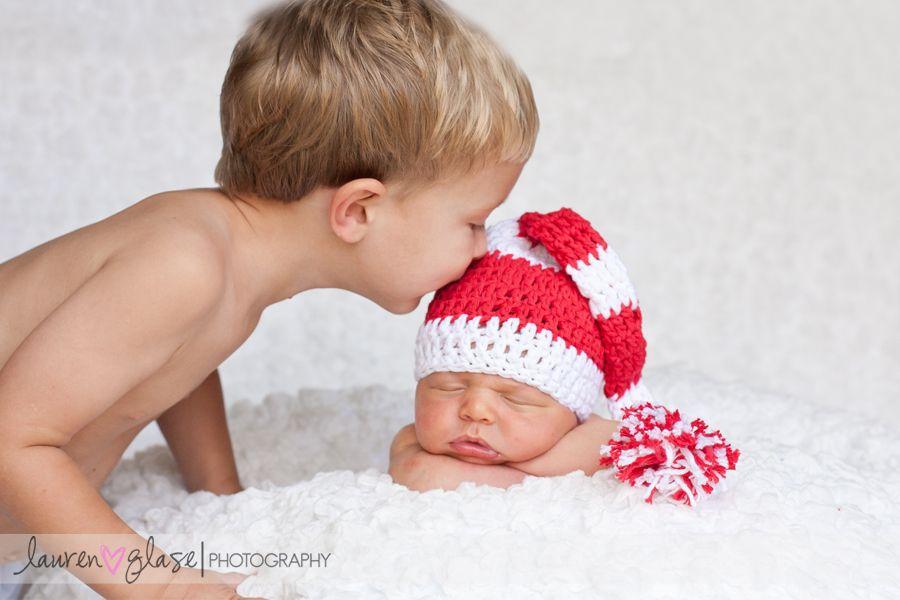 newborn photo with brother