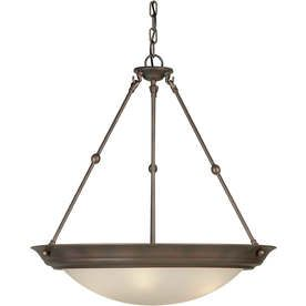 �23-in W Shandy Antique Bronze Pendant Light with Tinted Shade