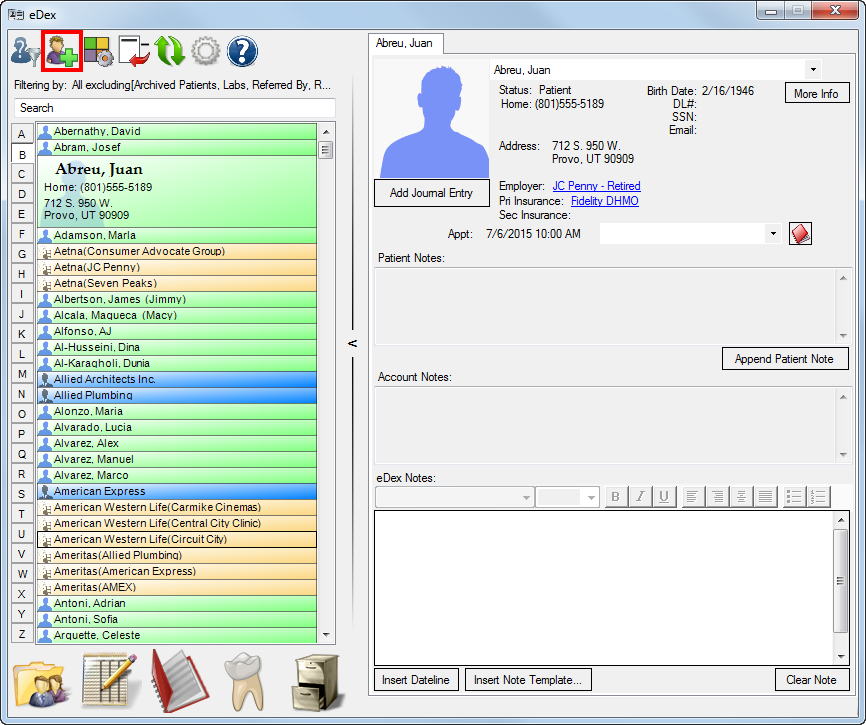 Adding Contacts to eDex (With images) Edex, Medical