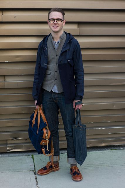 Nice ensemble featuring a little bit of Nigel Cabourn, Mark McNairy and Filson. Great look here.