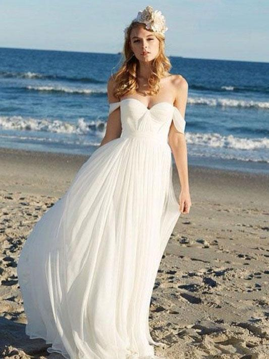Off Shoulder Unique Casual Cheap Beach Wedding Dresses Wd312 Cheap Beach Wedding Dresses Summer Wedding Dress Online Wedding Dress