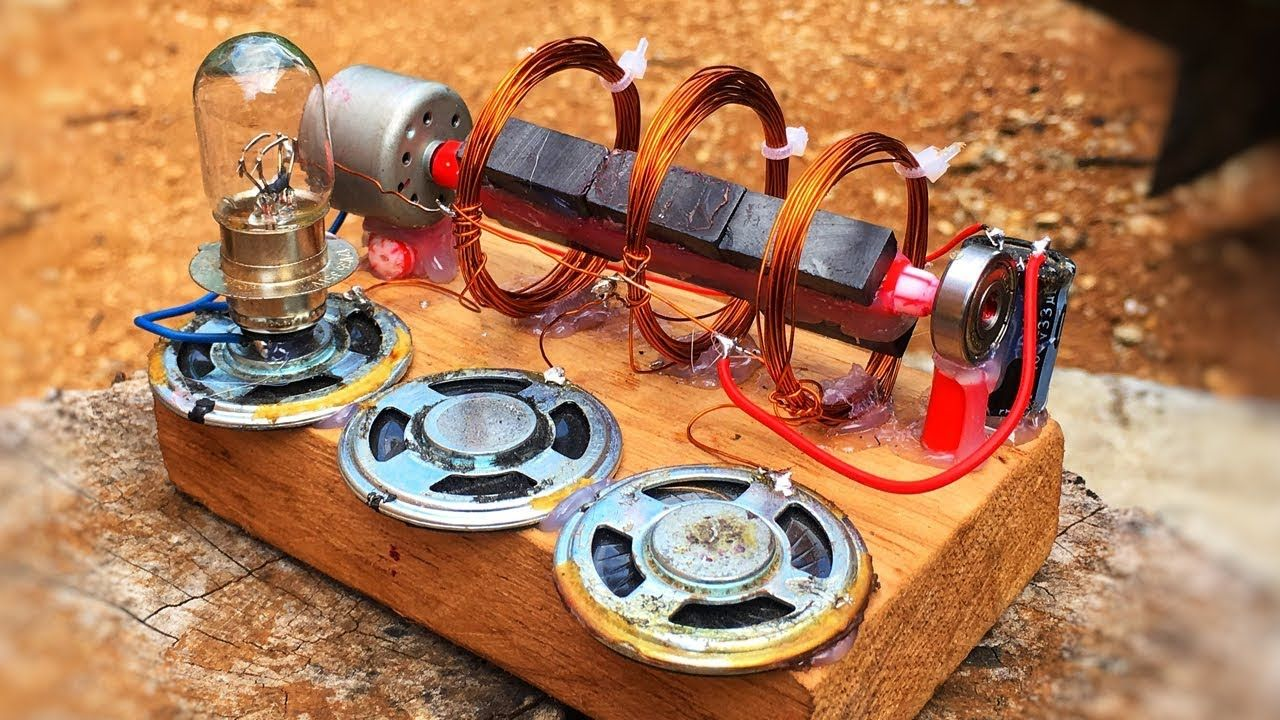 Electricity Free Energy Generator With DC Motor New