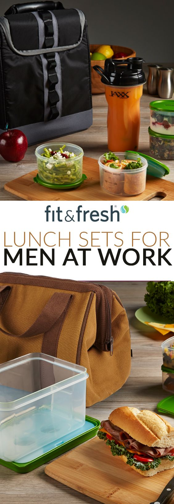 lunch sets for men at work - great gift idea for those hard to shop