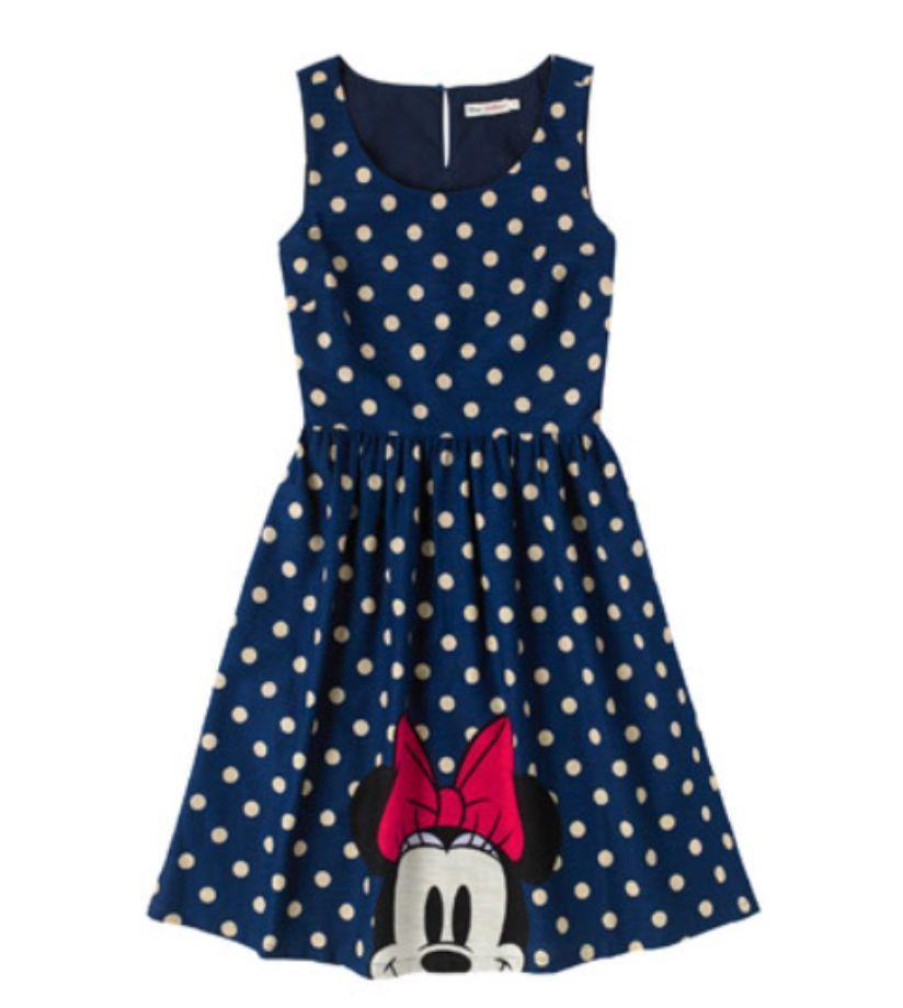 Cath Kidston Disney Ltd Ed Minnie Mouse Spot Barkcloth Dress Size ...