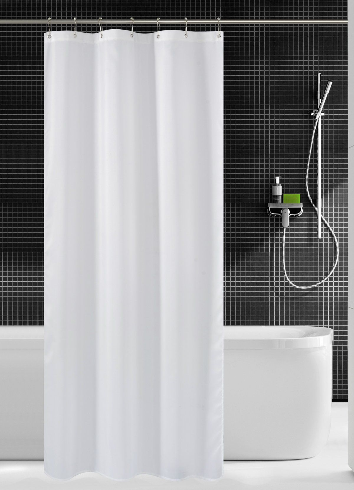 nandy home fabric shower curtain liner