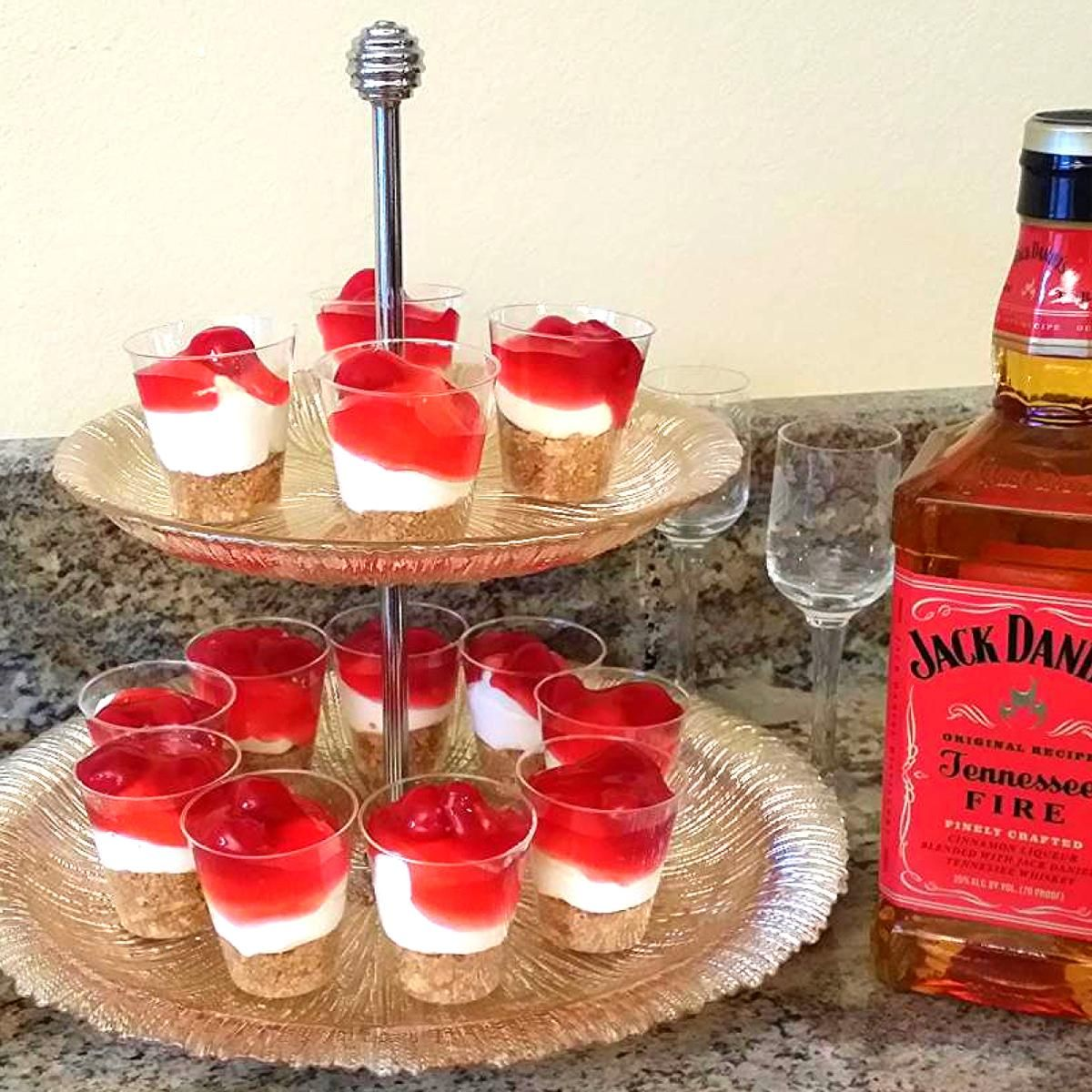 Jack Daniels Tennessee Fire Cheesecake Shots Recipe Just A Pinch Recipes
