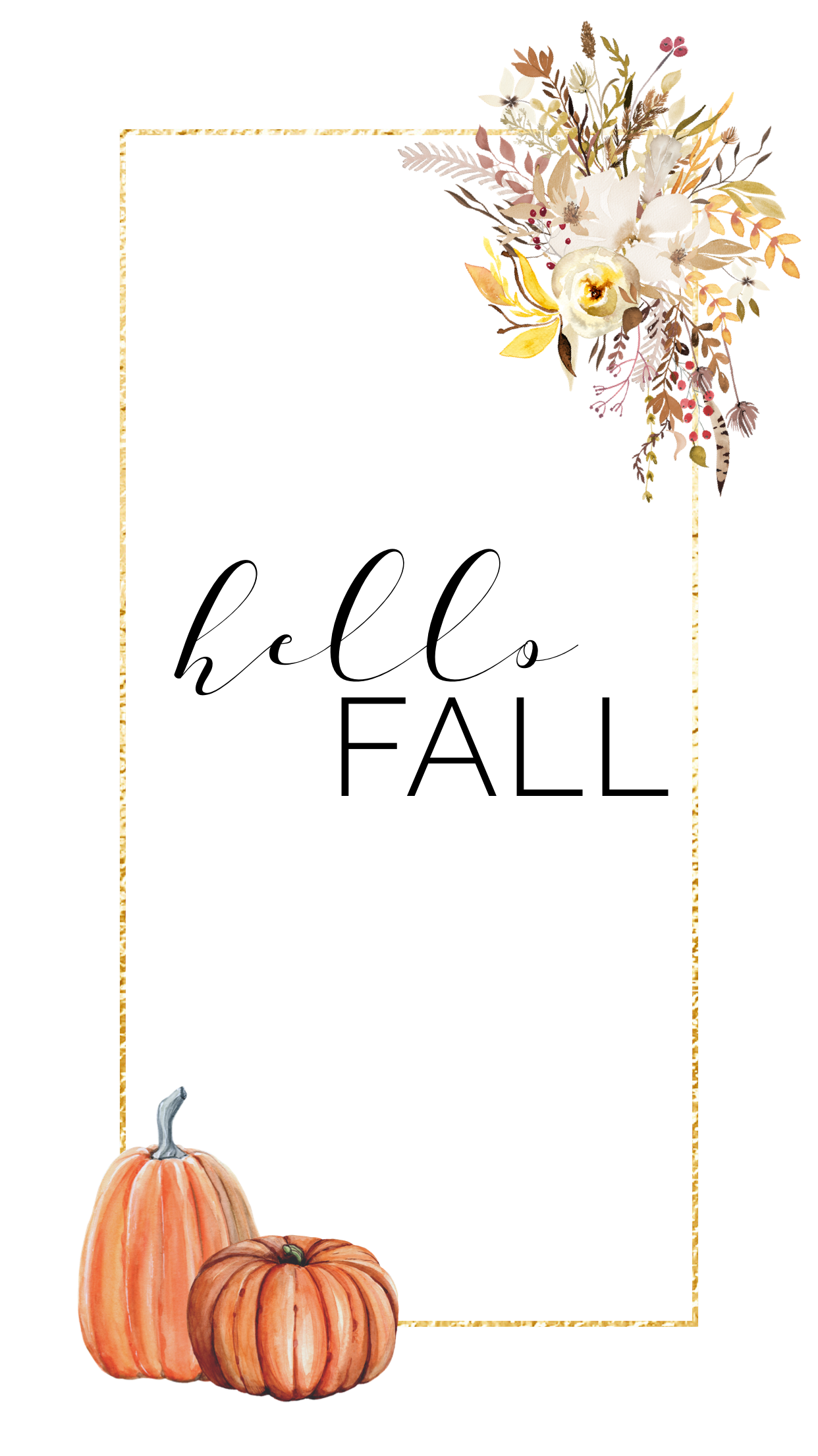 Hello Fall Fall Phone Wallpaper Pumpkin Floral Lynn Meadows Photography Pumpkin Wallpaper Iphone Wallpaper Fall Fall Wallpaper