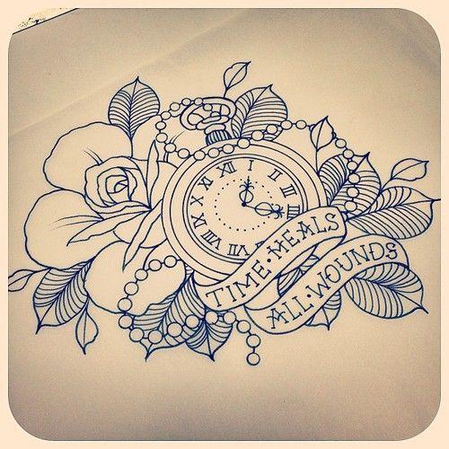 Creative Drawing Ideas Tumblr Google Search Time Tattoos Tattoos Watch Tattoos