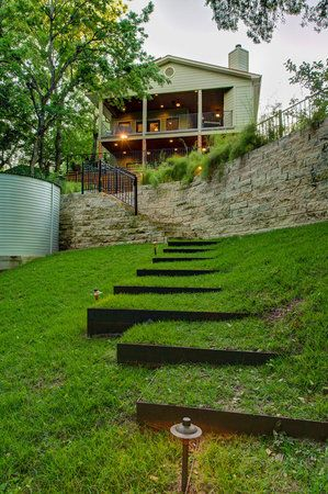 love the grass stairs. Black Bedroom Furniture Sets. Home Design Ideas