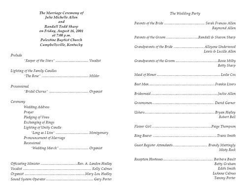 free printable wedding programs wedding program template 4