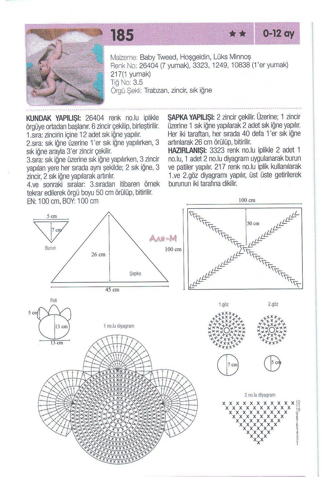Manta Bebe Sobre-Capsula Pez - Patrones Crochet | Bebek | Pinterest ...