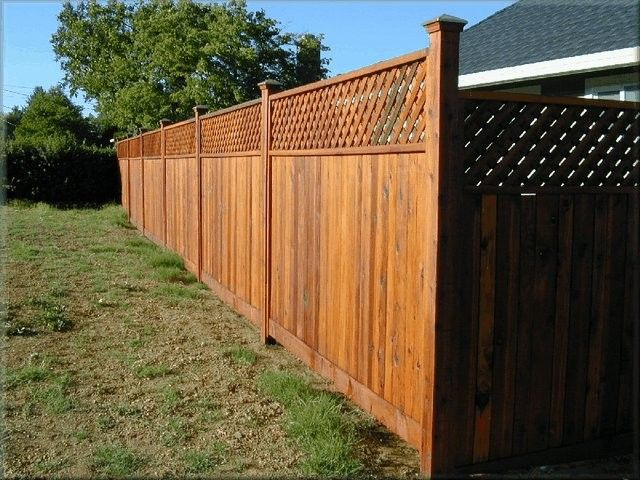 Redwood Fence Panel With Architectural Diagonal Top From North Cal Wood Products Fence Design Retaining Wall Design Outdoor