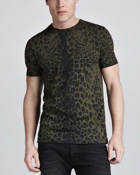 0eee76e7658 Pierre #Balmain Leopard-Print T-Shirt on shopstyle.com   Animal ...