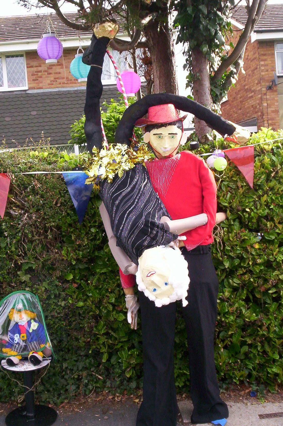 My Nico and Paddy Scarecrows - as from Britain's Got Talent.