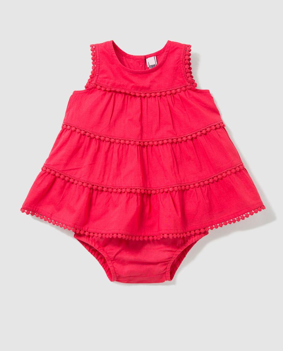 7b3ff5884 Vestido volantes de bebé niña Freestyle en rojo · Freestyle · Moda · El  Corte Inglés