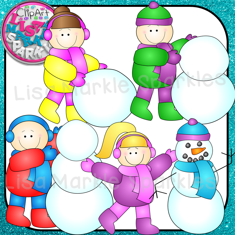 All the steps to building a snowman rolled into four colorful fun graphics! Great for all your winter teaching resources and activities! The set includes four color graphics and four black line versions. All graphics are 300 DPI PNG files. Now go build a snowman! :)