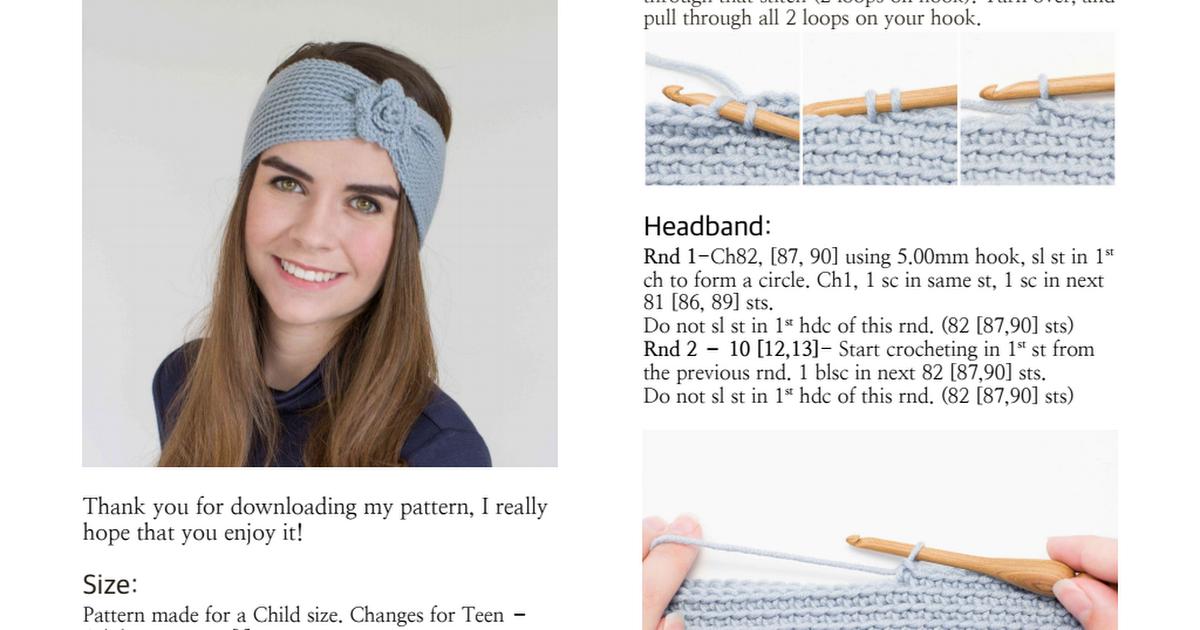 Mia Headband Crochet Pattern.pdf | Crochet | Pinterest