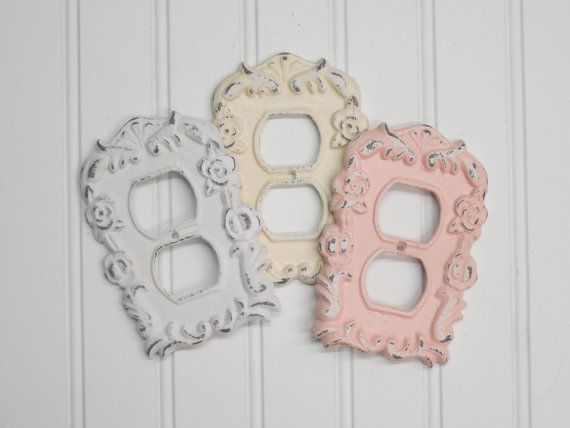 Shabby Chic Outlet Plate Cover Shabby Chic Room Shabby Chic