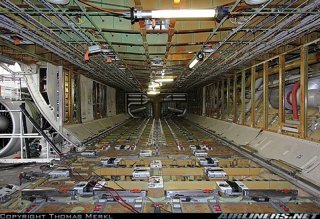 Boeing 777 Fzn Forward Cargo Compartment During C Check