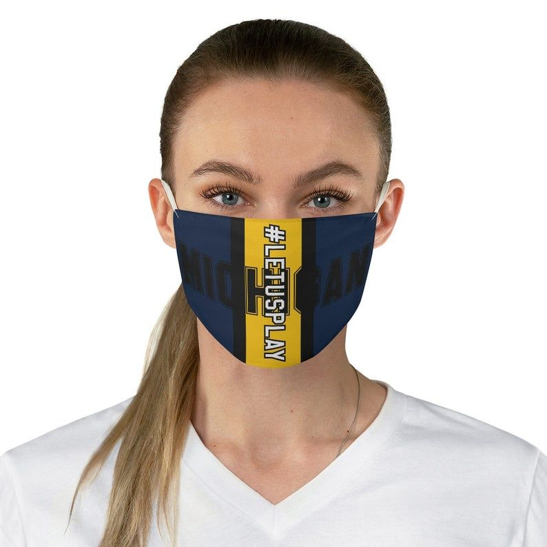 Michigan Football Mask For Wolverine Fans Letusplay Big Ten Etsy In 2020 Football Mask Michigan Football Big Ten