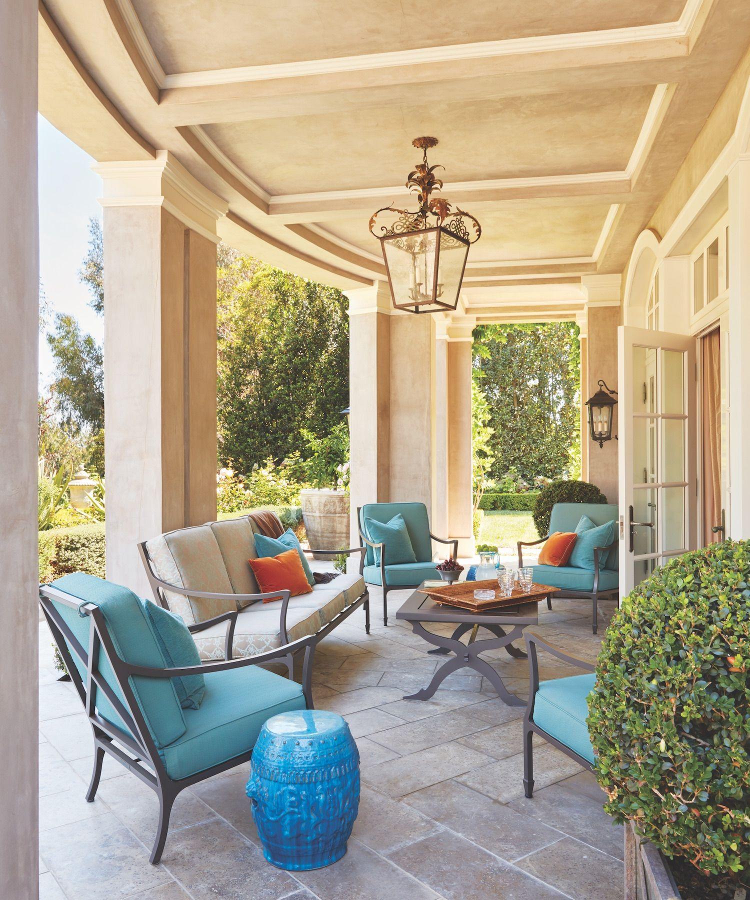 Dream backyard design at a los angeles estate outdoor furniture