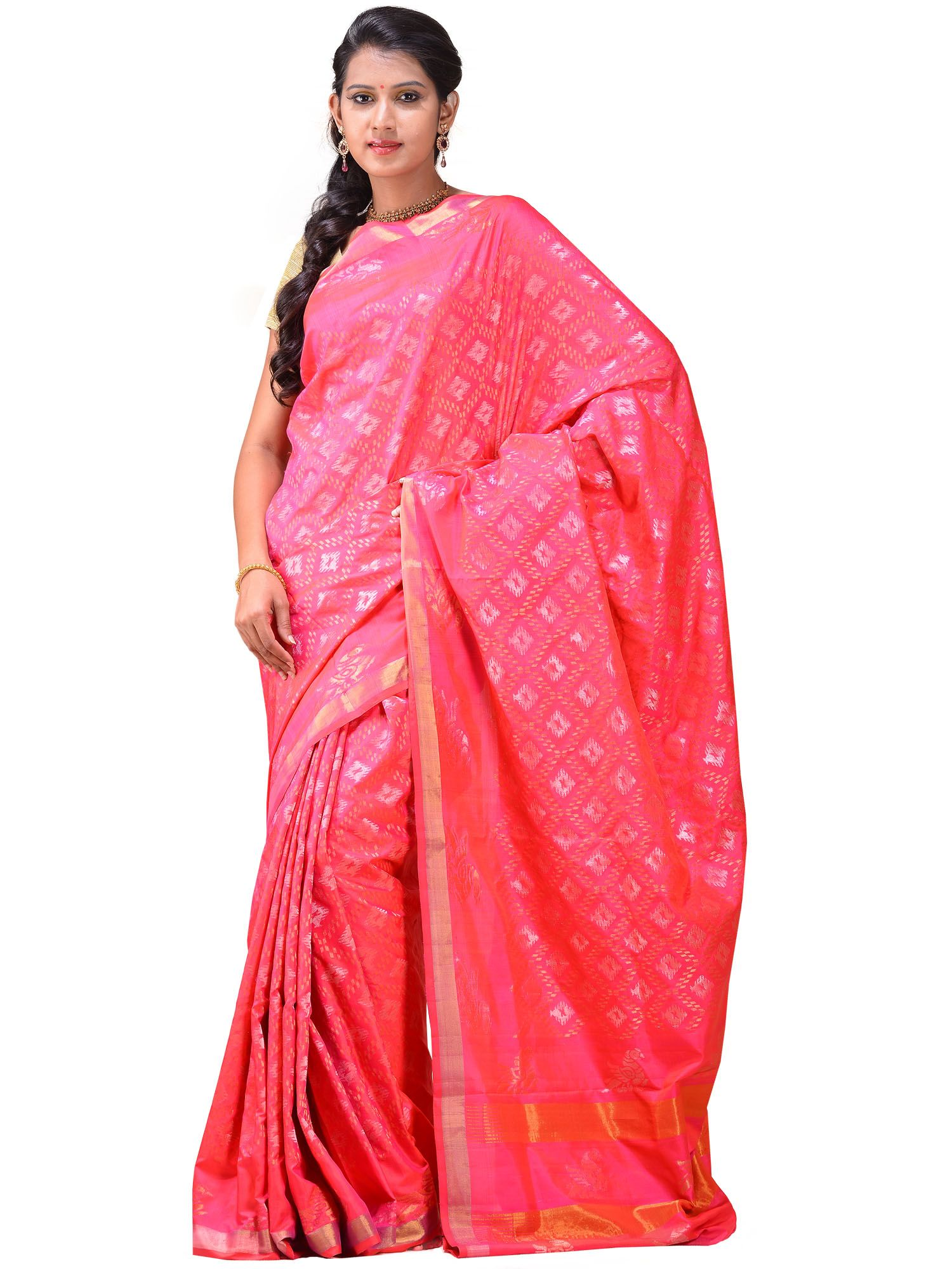 Tissue silk saree uppada sarees are known for light silk sarees with jamdani weaving