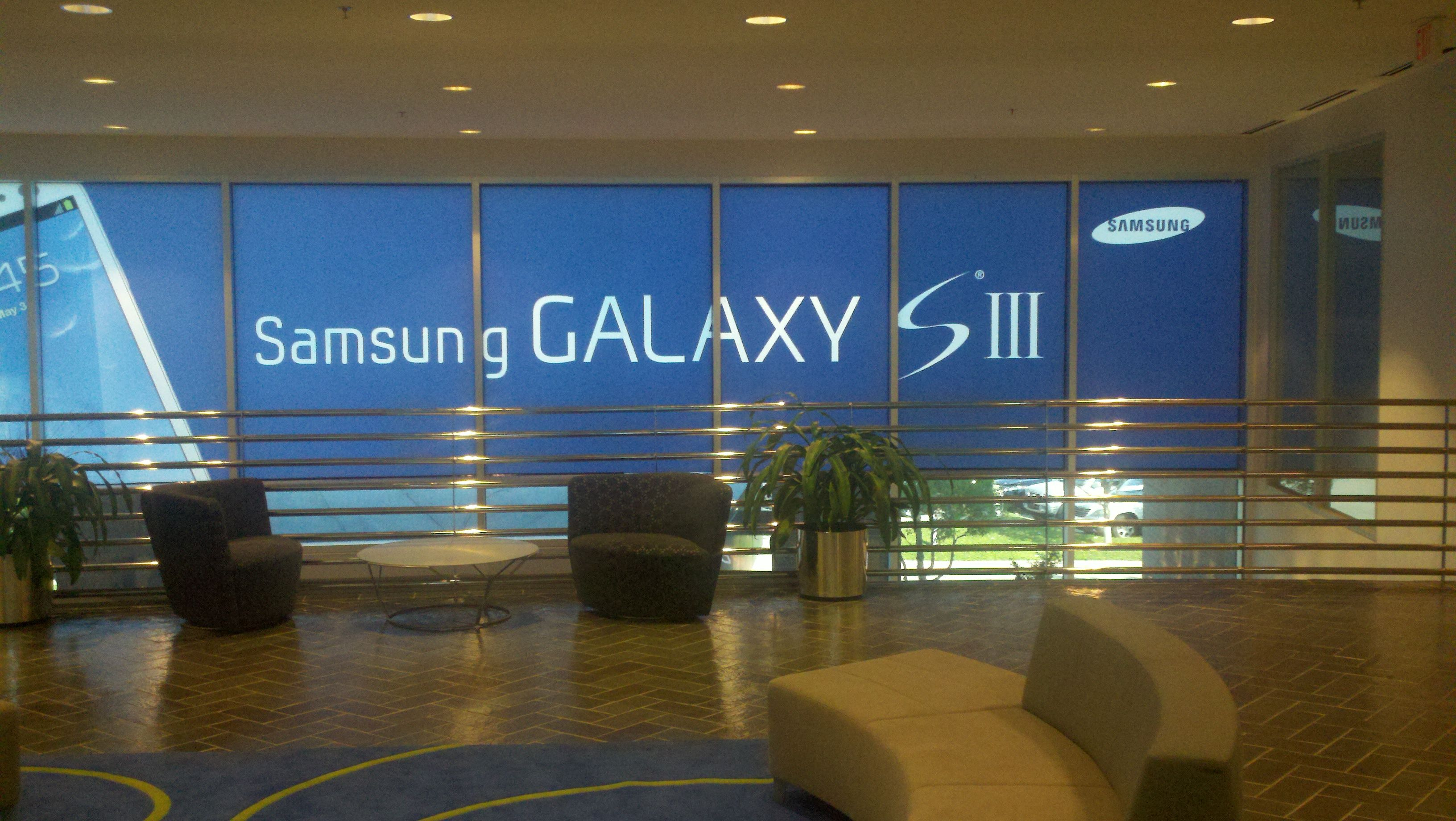 10' x 40' Window wrap at Samsung Mobile Corporate HQ in Texas